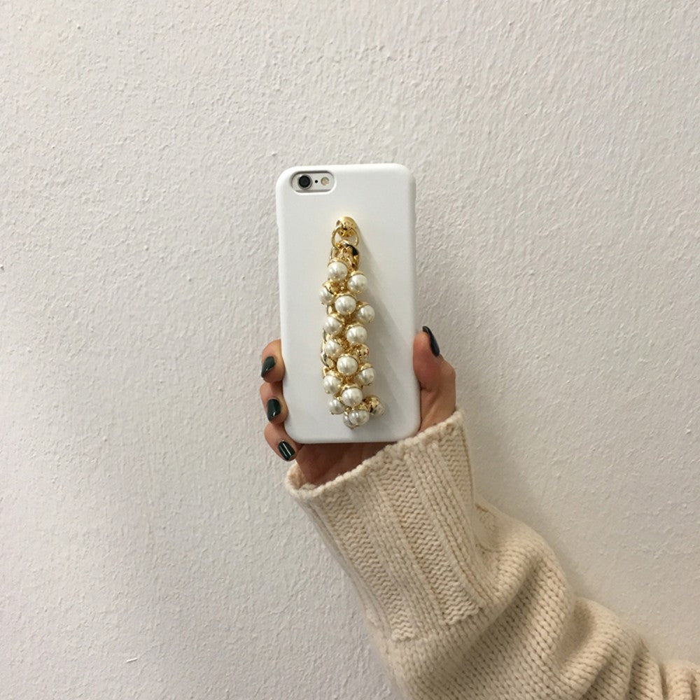 [MIDNIGHT MOMENT] pearl gold chain white case