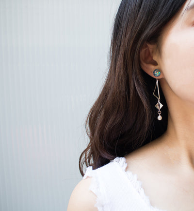 [LUVINBALL] Snowball, Shape Drop Earrings Style2