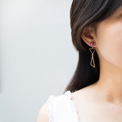 [LUVINBALL] Snowball, Shape Drop Earrings Style4
