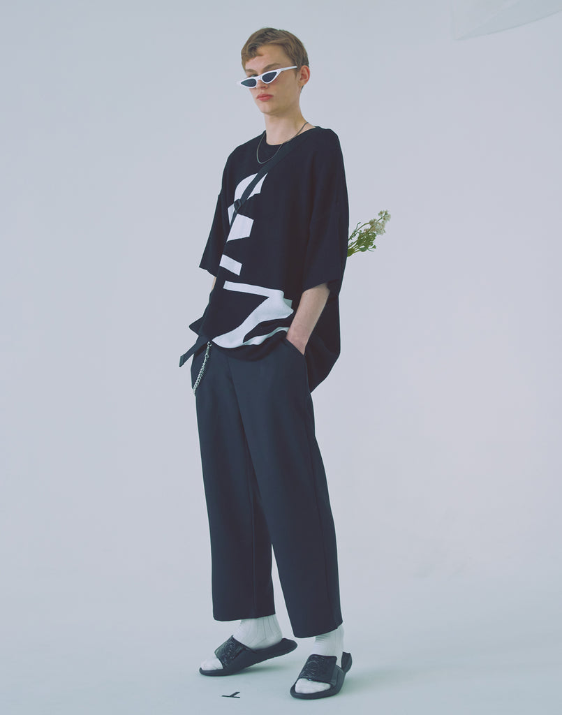 [WOOZO] 18 SS 24 wide banding pants (black)
