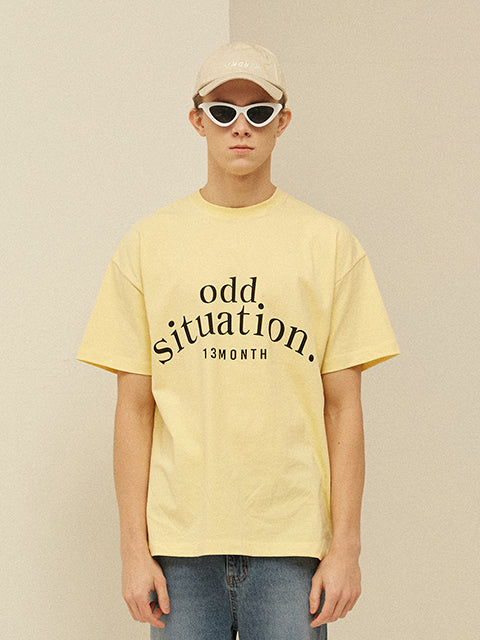 [13MONTH] ODD PRINTING T-SHIRT (YELLOW)
