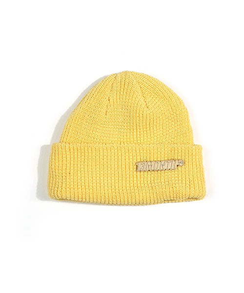 [13MONTH] BROOCH PASTEL COLOR BEANIE (YELLOW)
