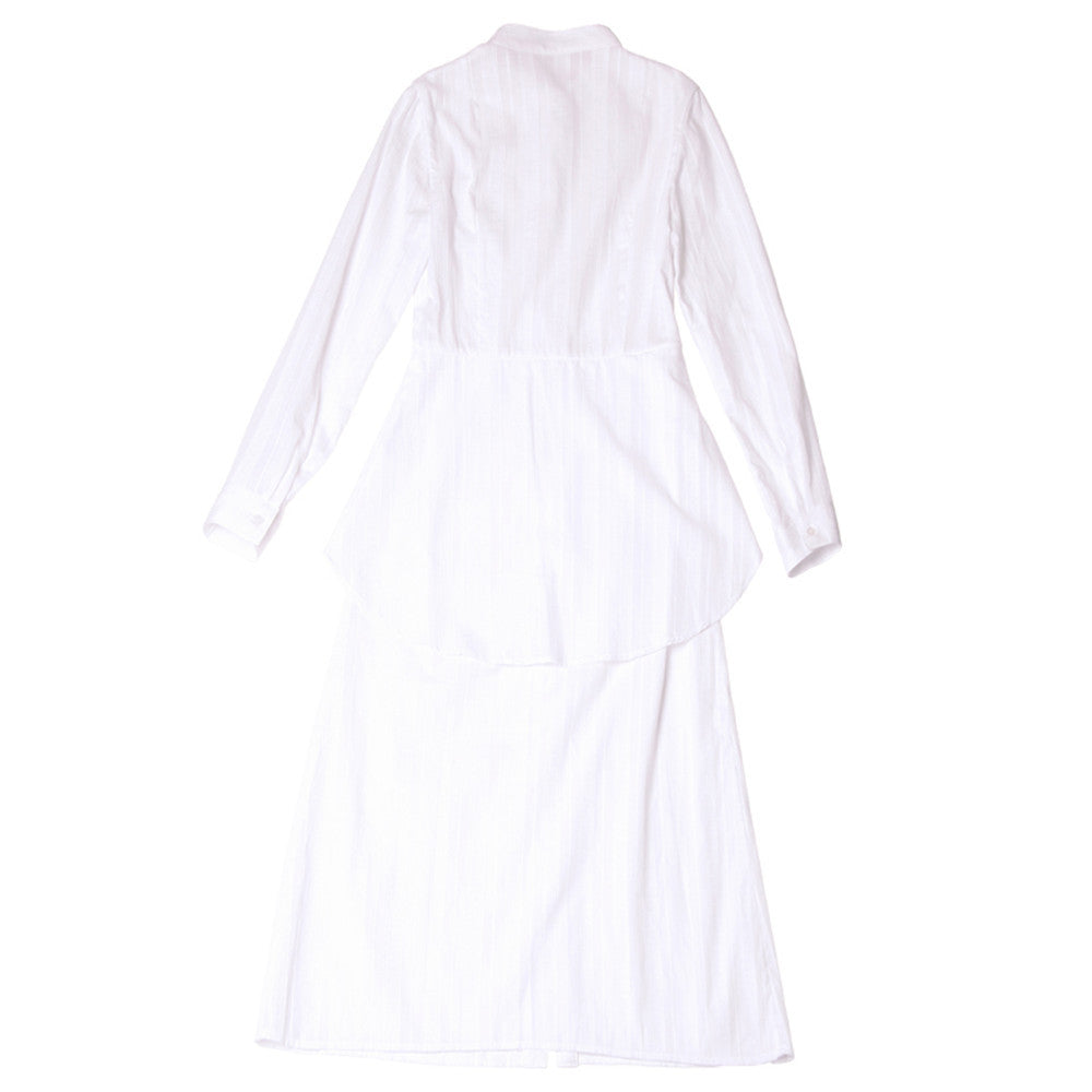 [ETHRICA]PEPLUM LONG SHIRTDRESS