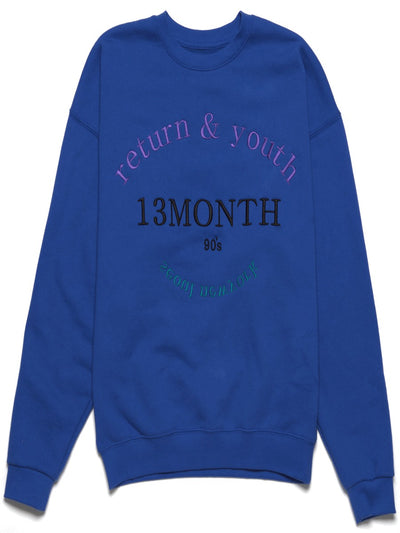 [13MONTH] RETURN AND YOUTH SWEATSHIRT(BLUE)