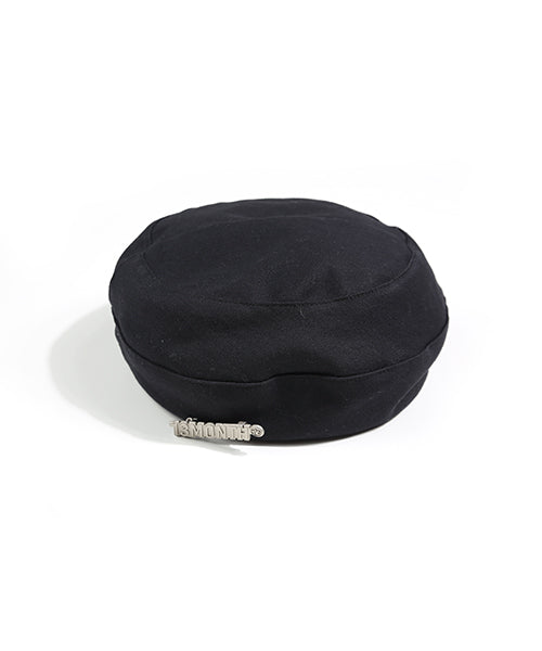 [13MONTH] BROOCH ROUND BERET (BLACK)