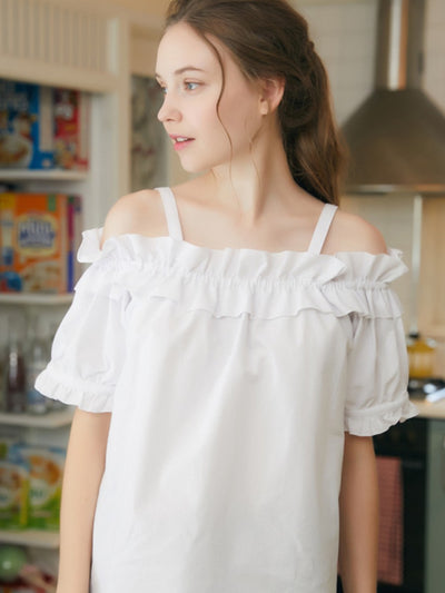[LUV IS TRUE] RO OFF SHOULDER (WHITE)