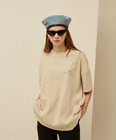 [13MONTH] SCOTCH LOGO PRINTING T-SHIRT (BEIGE)