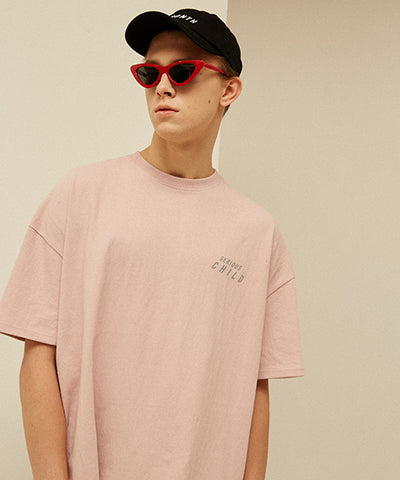 [13MONTH] SCOTCH LOGO PRINTING T-SHIRT (PINK)