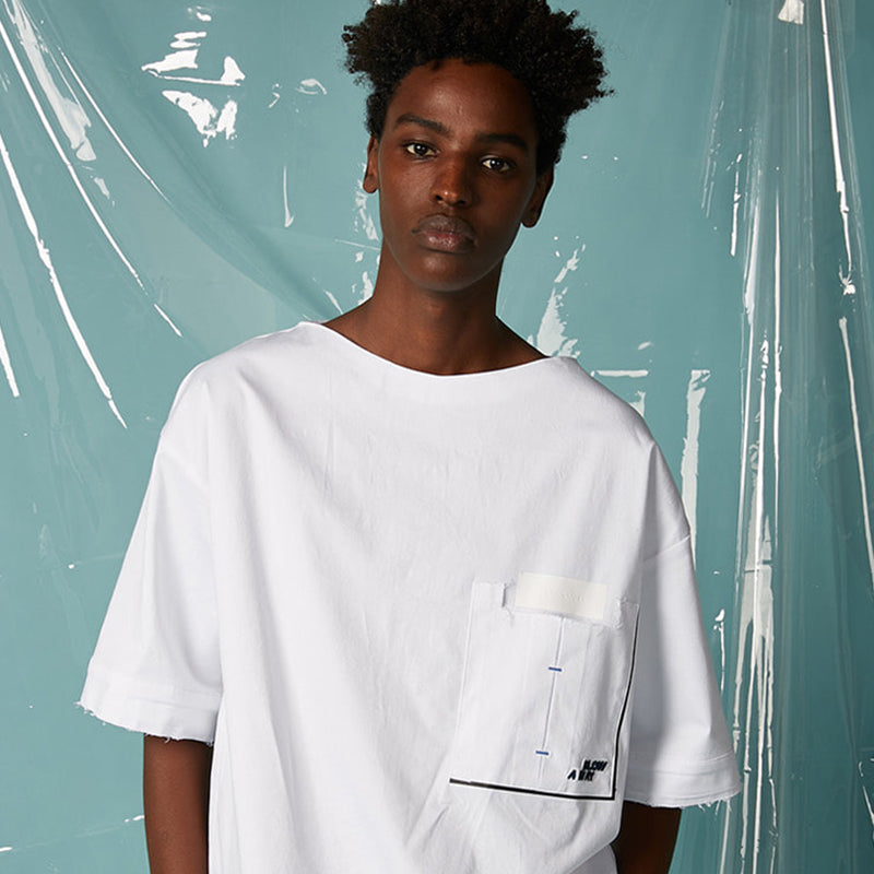 [AT THE MOMENT] String Pullover Shirt (WHITE)