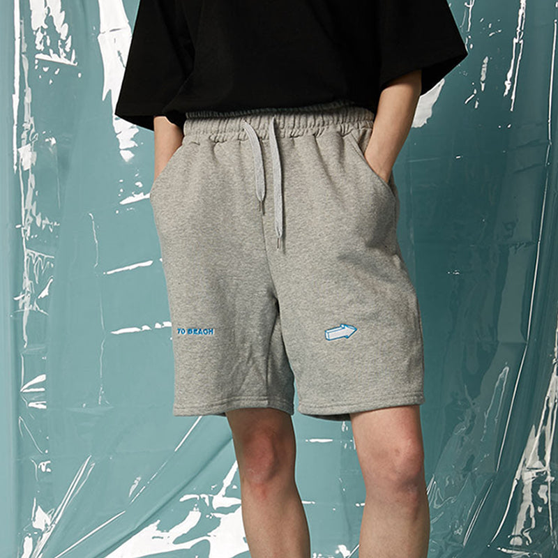 [AT THE MOMENT] To Beach Half Pants (GRAY)