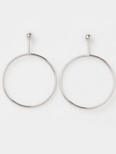 [J.GRACELET] Simple Ball Earrings (Silver)