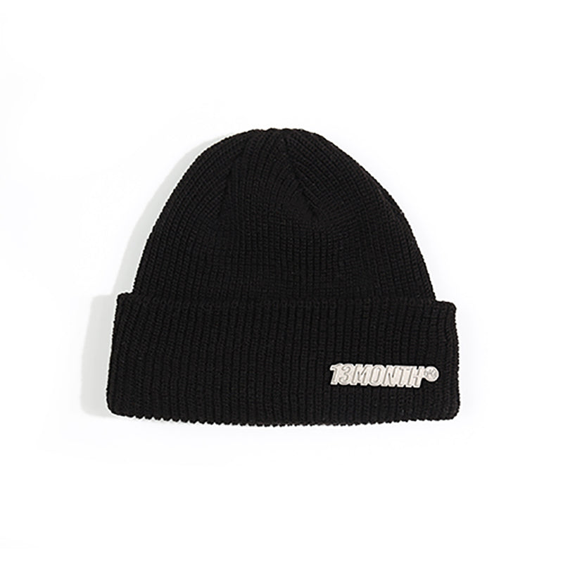 [13MONTH] BROOCH PASTEL COLOR BEANIE (BLACK)