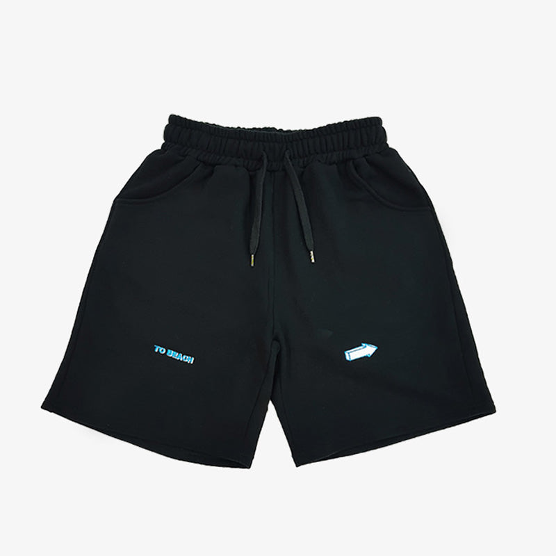 [AT THE MOMENT] To Beach Half Pants (BLACK)