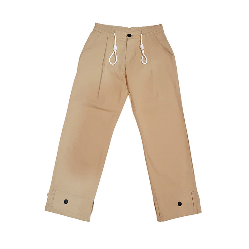 [AT THE MOMENT] Strap Long Pants (BEIGE)