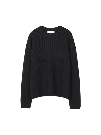 [ANDERSSON BELL] UNISEX APPLIQUE TOLLEGNO SWEATER atb165u (BLACK)