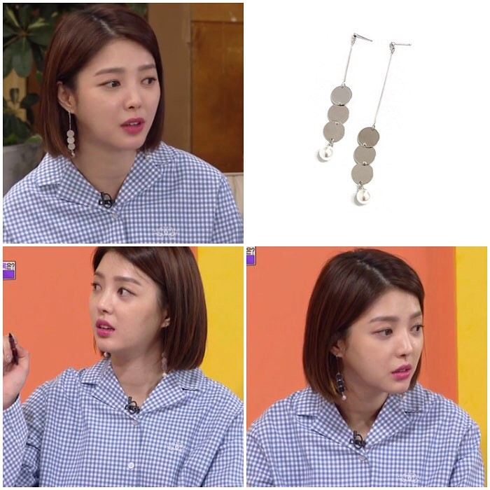 [MIDNIGHT MOMENT][Actress 엄현경] three button earring