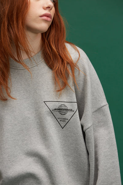 [NOYCOMMON] PLANET SWEATSHIRT GY