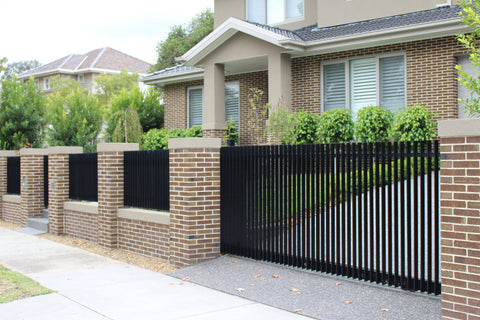 Vertical slat fence gate