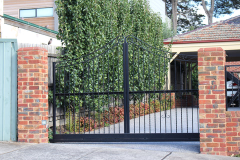 Wrought iron Cantilever Sliding Gate