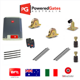 BFT & Rolling Centre Sliding Gate Kit - Complete residential kit - Italian made - with 600kg motor - Powered Gates Australia