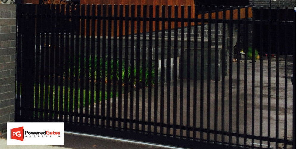 Residential sliding gate - Powered Gates Australia