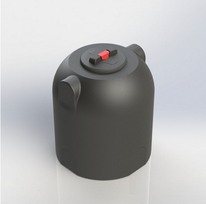 Black Cylindrical Rainwater Water Tank