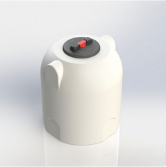 White Cylindrical Rainwater Water Tank