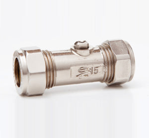 Flow regulator isolation valve 15mm