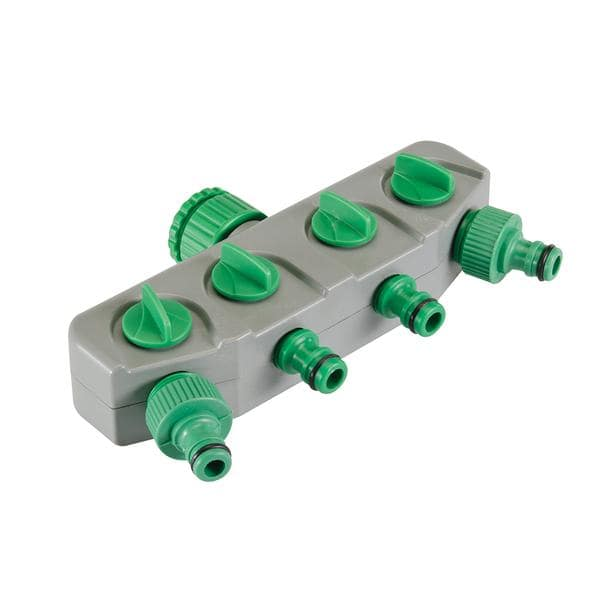 "4-Way Tap Connector (3/4"" & 1/2"" Male)"