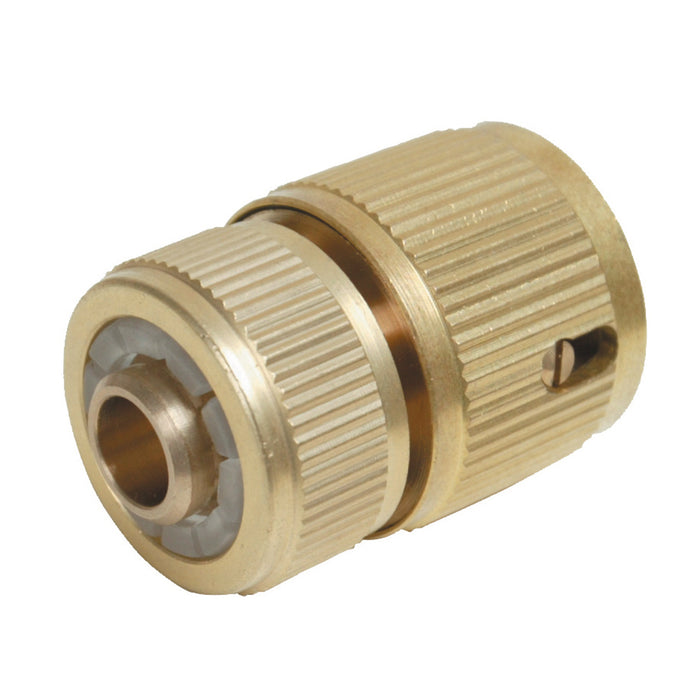 "Quick Connector Auto Stop Brass (1/2"" Female)"
