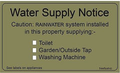 Rainwater Harvesting Adhesive Labels