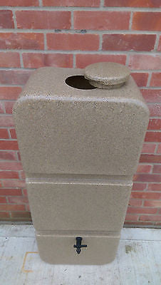 Water butt, 125l slim, sandstone or granite effect - Freeflush Rainwater Harvesting Ltd.