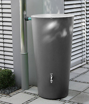 Elegant modern rainwater harvesting rainbowl water butt 210 litre