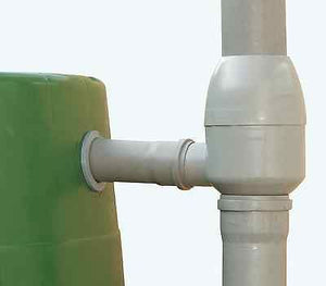 Regendieb de Luxe water butt connector -  Self cleaning Rainwater Filter for downpipes - Freeflush Rainwater Harvesting Ltd.