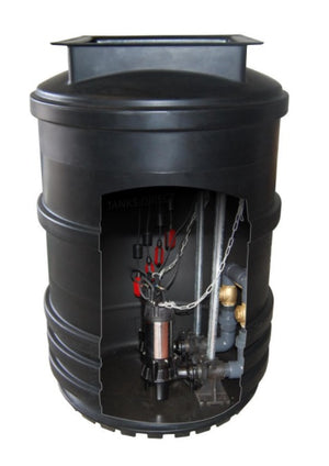Maxi Single and Twin Sewage Pumping Station Range 1600l, 2400l, 2600l, 3500l, 4400l
