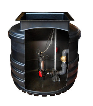 Mini Single and Twin Sewage Pumping Station Range 800l, 1200l and 1700l