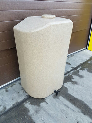 Water butt, 300l slim, sandstone or granite effect plus optional diverter - Freeflush Rainwater Harvesting Ltd.