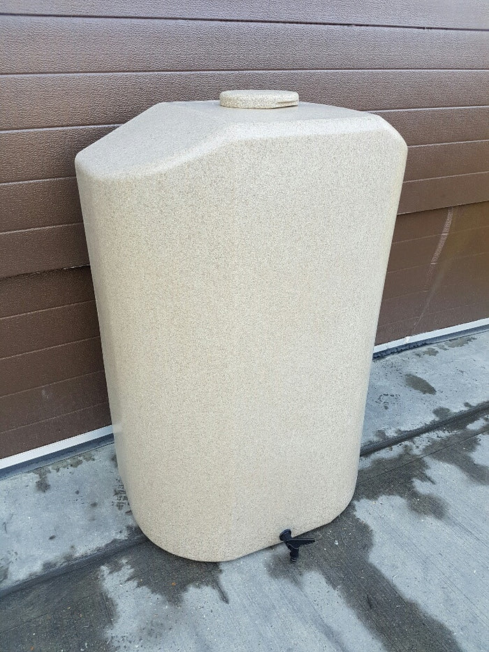 Water butt, 300l slim, sandstone or granite effect plus optional diverter