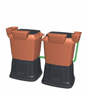 Rainwater Terrace 1 Tier 134L Water Butt With Planters - Freeflush Rainwater Harvesting Ltd.