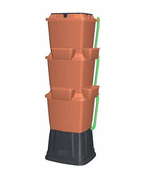 Rainwater Terrace 3 Tier 200 Litre Water Butt With Planters - Freeflush Rainwater Harvesting Ltd.