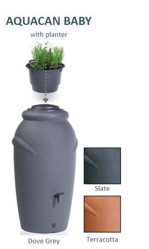 AquaCan Baby water butt 210 litre - Freeflush Rainwater Harvesting Ltd.