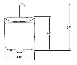 GrandeSys Toilet cistern with integrated sink - Freeflush Rainwater Harvesting Ltd.