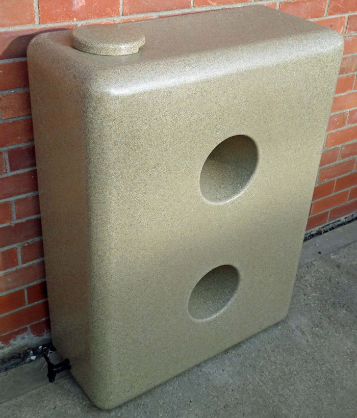 Water butt, 220l slim, sandstone, granite or black with optional diverter