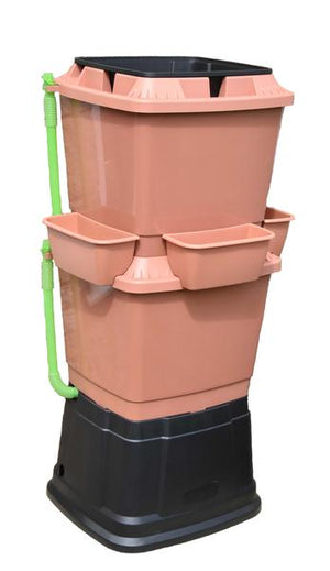 Rainwater Terrace 2 Tier 134 Litre Water Butt With Planters - Freeflush Rainwater Harvesting Ltd.
