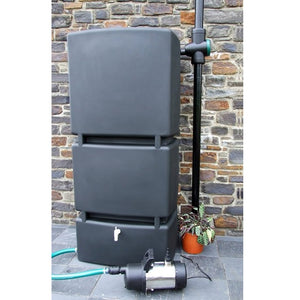 Rainwater Harvesting Package 800l butt and garden steel pressure pump - Freeflush Rainwater Harvesting Ltd.