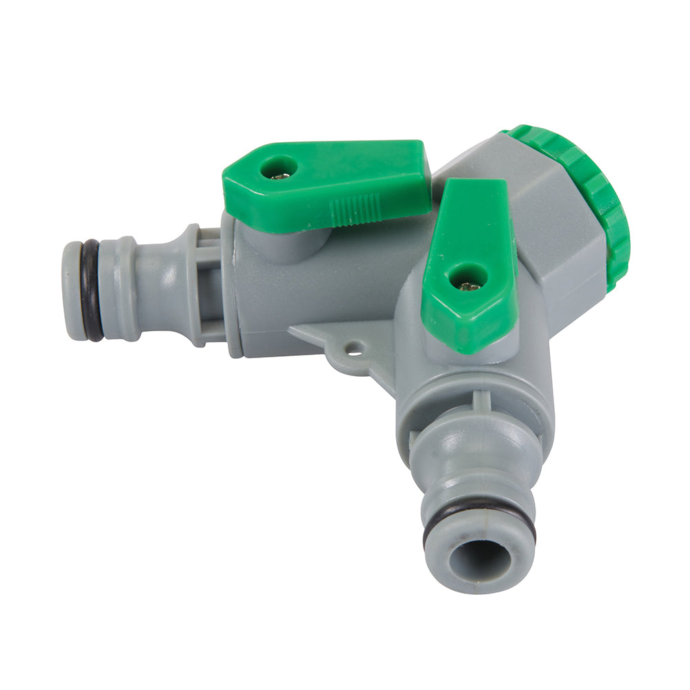 "2-Way Tap Connector (3/4"" BSP to 1/2"" Male) - Freeflush Rainwater Harvesting Ltd."