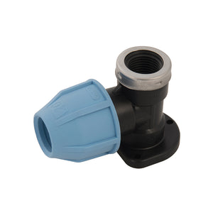 "MDPE Wall Plate Elbow 20mm x 1/2"", 25mm x 3/4"" - Freeflush Rainwater Harvesting Ltd."