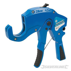 Silverline Quick-Action Plastic Pipe Cutter 42mm
