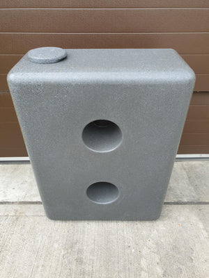 Water butt, 220l slim, sandstone, granite or black with optional diverter - Freeflush Rainwater Harvesting Ltd.