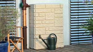 Maurano Stone Effect Water Butt – 300 Litres - Freeflush Rainwater Harvesting Ltd.
